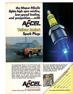 1973 PLYMOUTH DUSTER  ~  MOPAR MISSILE - DON CARLTON  ~  NICE ORIGINAL ACCEL AD