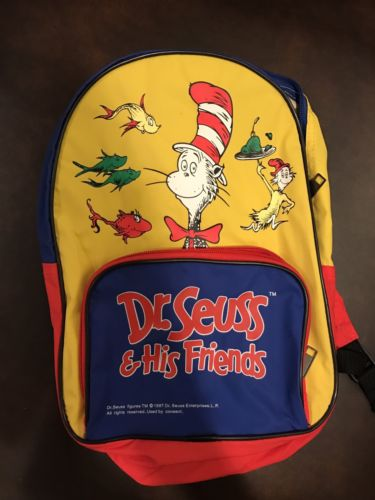 Vintage 1997 Dr Seuss Children's Small Backpack