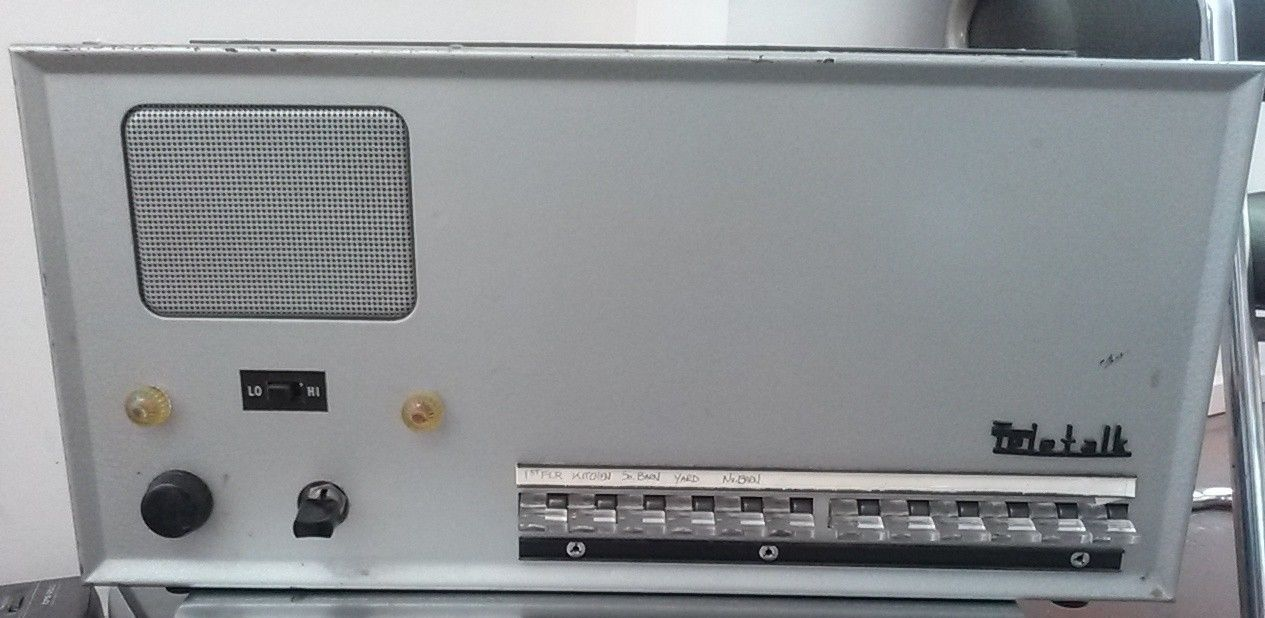 Teletalk by Webster T4512 *12* station master intercom vintage audio grey metal