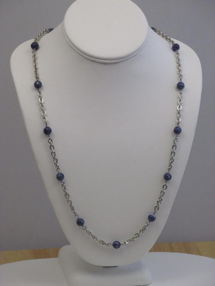 Sodalite Station Necklace 28