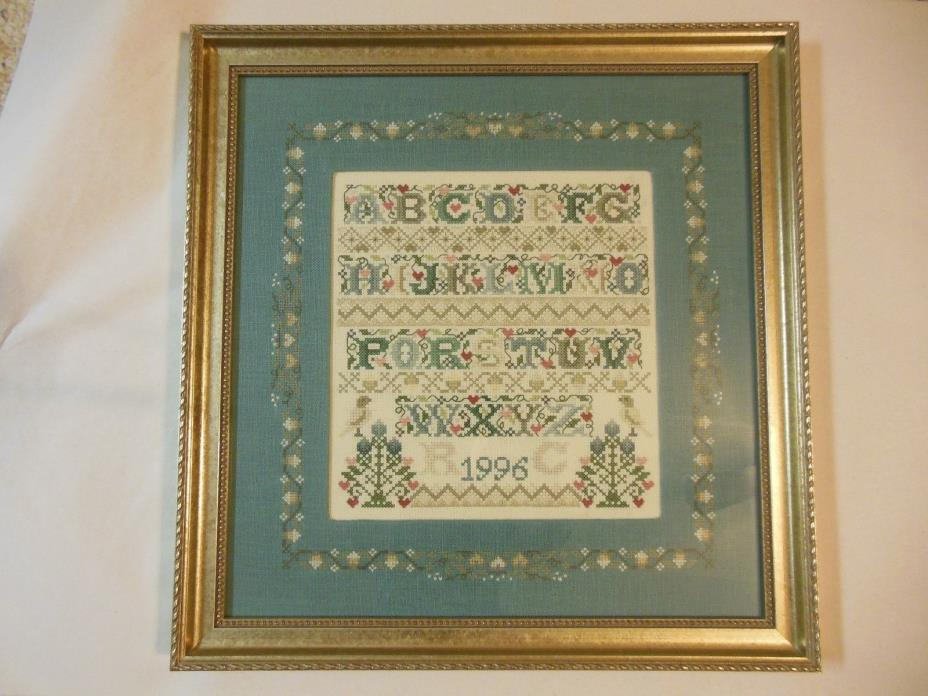 Alphabet Cross Stitch Finished and Professionally Framed
