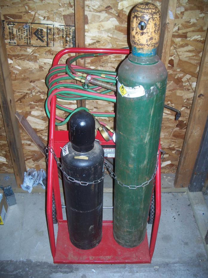 oxygen acetylene torch set