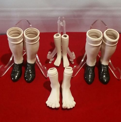 4 Pair Of Porcelain Bisque Doll legs