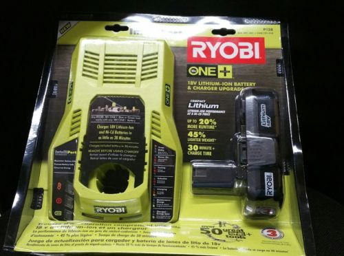 Ryobi ONE+ 18V Lithium-Ion Battery & IntelliPort Charger Upgrade Kit. Brand New