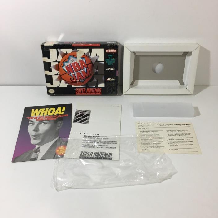 NBA Jam BOX ONLY! ( Super Nintendo ) SNES NO GAME INCLUDED!! ACCLAIM