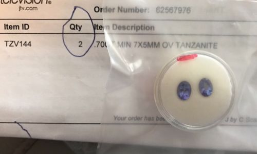 (1) 0.70 ct MIN 7 x 5 mm OVAL Tanzanite Loose Gemstone TZV 144