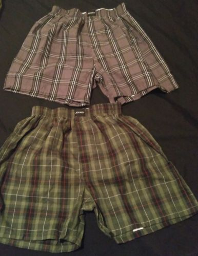 Boys Plaid JOCKEY Boxer Briefs Size 6-8