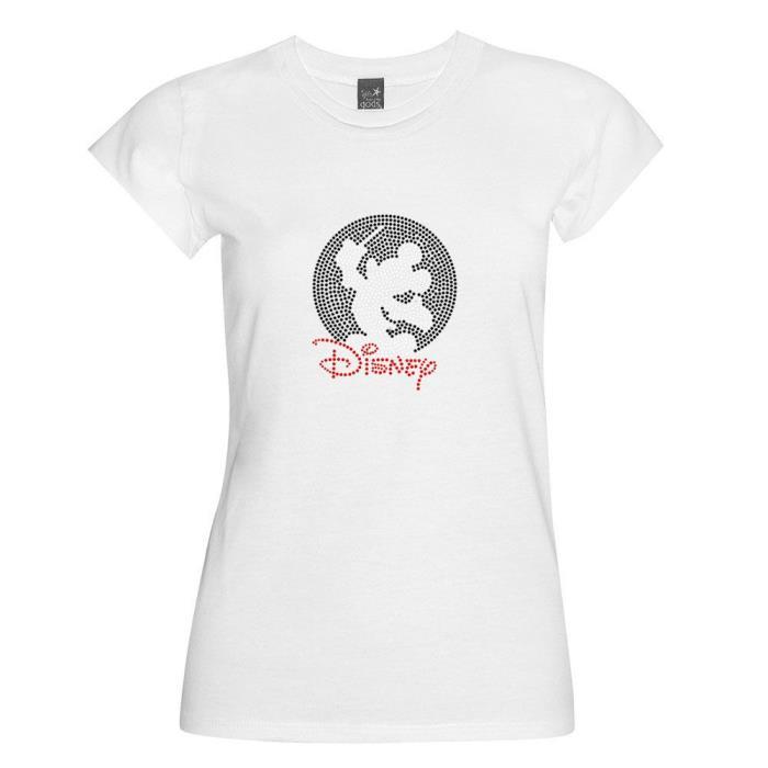 Mickey Mouse Bling Rhinestone Iron on Heat Transfer Hot Fix Motifs T-Shirt 001