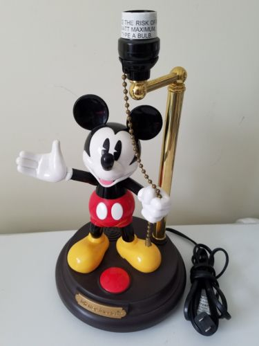 VINTAGE MICKEY MOUSE TALKING Animated LAMP Peaq Non WORKING For Parts or Repair