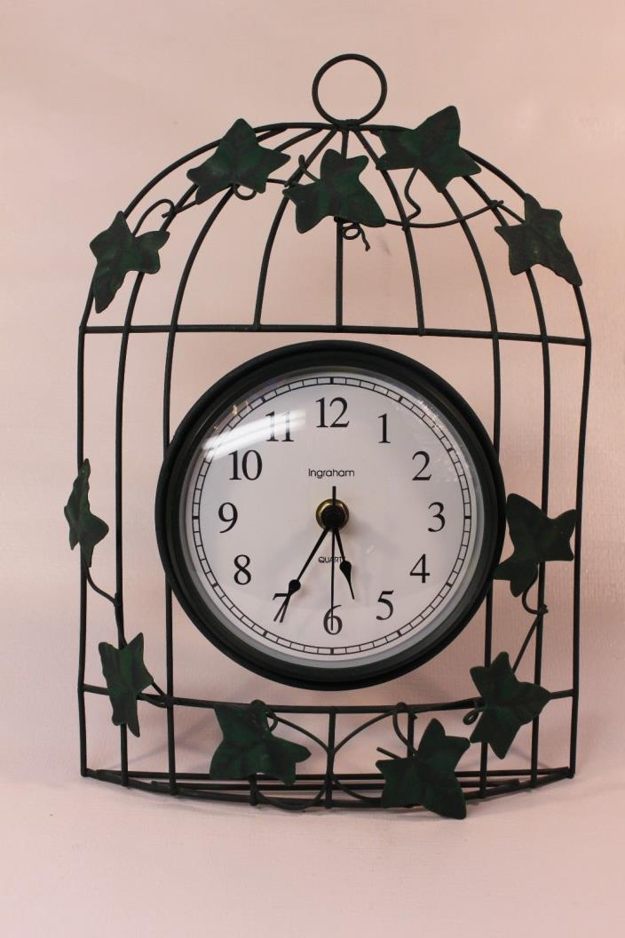INGRAHAM, quartz, metal  wall clock (ref 781)