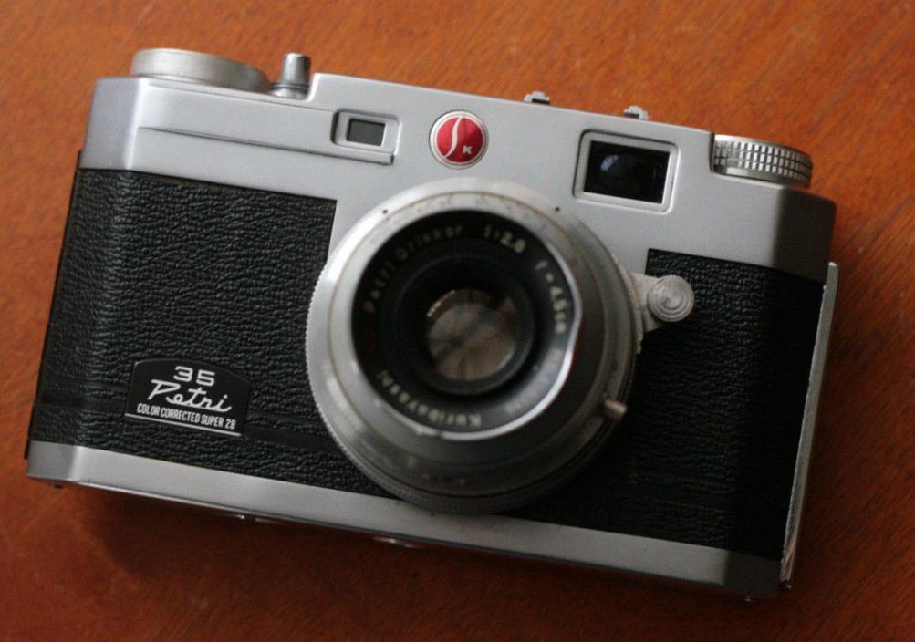 Petri 35 Film Rangefinder Camera  Orikkor 4.5cm F2.8 Lens  Film Tested, Cool!!!!