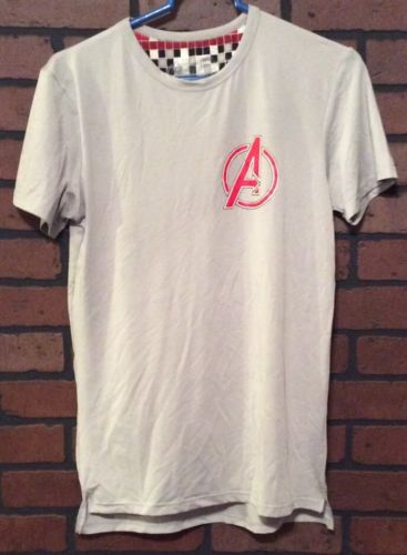 Marvel Avengers Shirt Gray Size Small Polyester Short Sleeve Solid Men's AA12