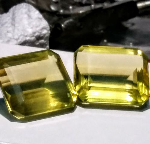 125ct Natural Yellow Lemon Quartz Matched Pair Oval Beautiful Cut 26 x 20 Brazil