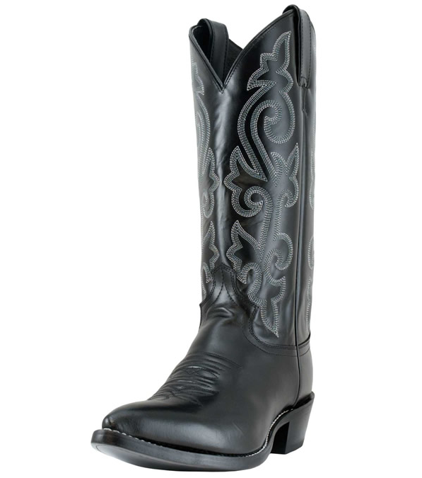 Justin's 1408 Black London Calf Boot 13 EE Extra Wide Western Dress Boots