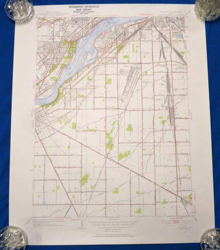 Toledo Ohio Rossford Ohio Vintage 1951 USGS Map