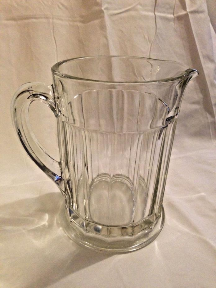 Vintage Clear Glass Beer Pitcher