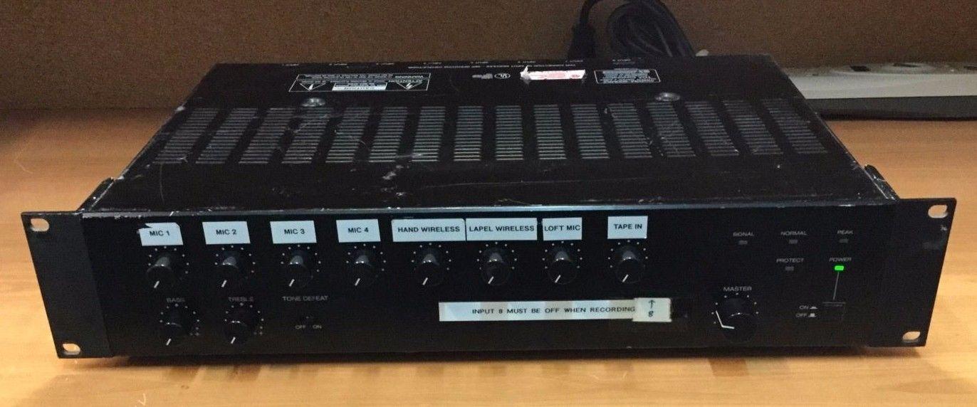 TOA M-900MK2 8 Channel Modular Mixer Preamplifier w/ 7 M-01 Mic Amp 1 B-11
