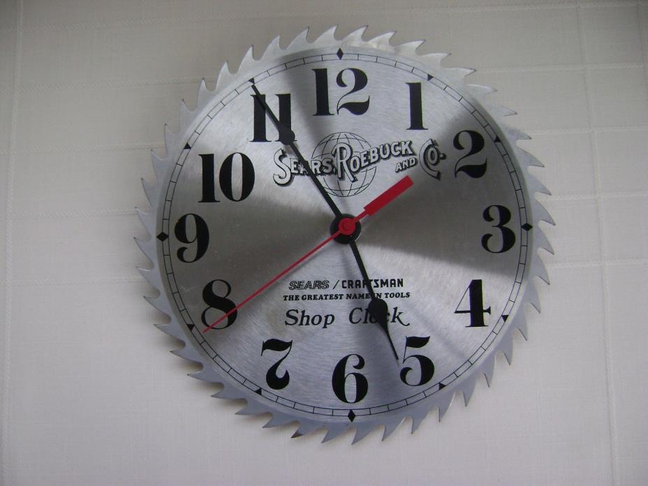 Sears Roebuck Craftsman Circular Saw Blade Shop Clock