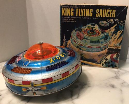 Rare Space Ship King Flying Saucer by KO Yoshiya Toys Made Japan 1950's Box