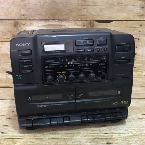 Vintage SONY CFD-540 Boombox CD Dual Cassette Player Recorder AM FM Radio