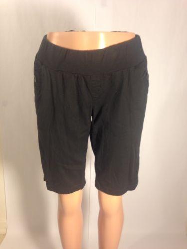 Motherhood Maternity Women Shorts Sz M Black Casual Bermuda