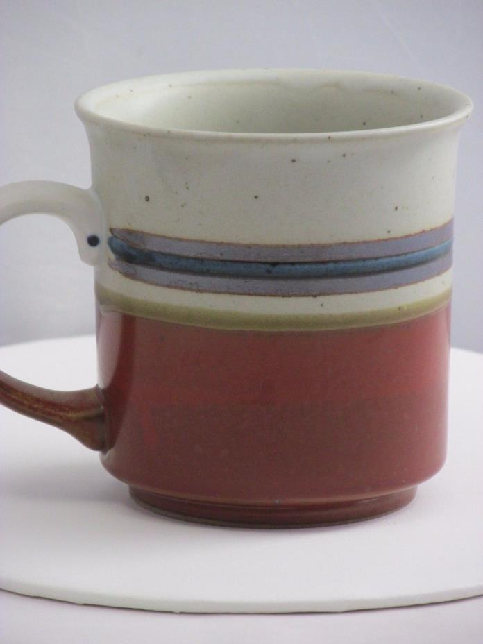 Vintage Otagiri Stoneware Mug Brown Striped Speckled Earthy Japan (PDA002)