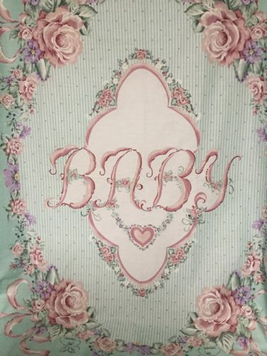 Baby Blanket Fabric Panel - Cotton Blend (Girl )  New