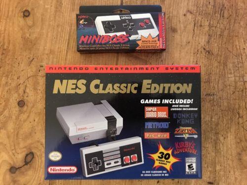 Nintendo Entertainment System NES Classic Edition & Miniboss Wireless Controller