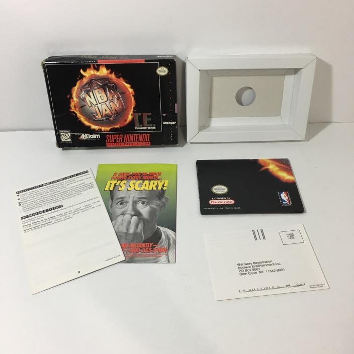 NBA Jam Tournament Edition T.E. BOX & POSTER ONLY (Super Nintendo) SNES NO GAME