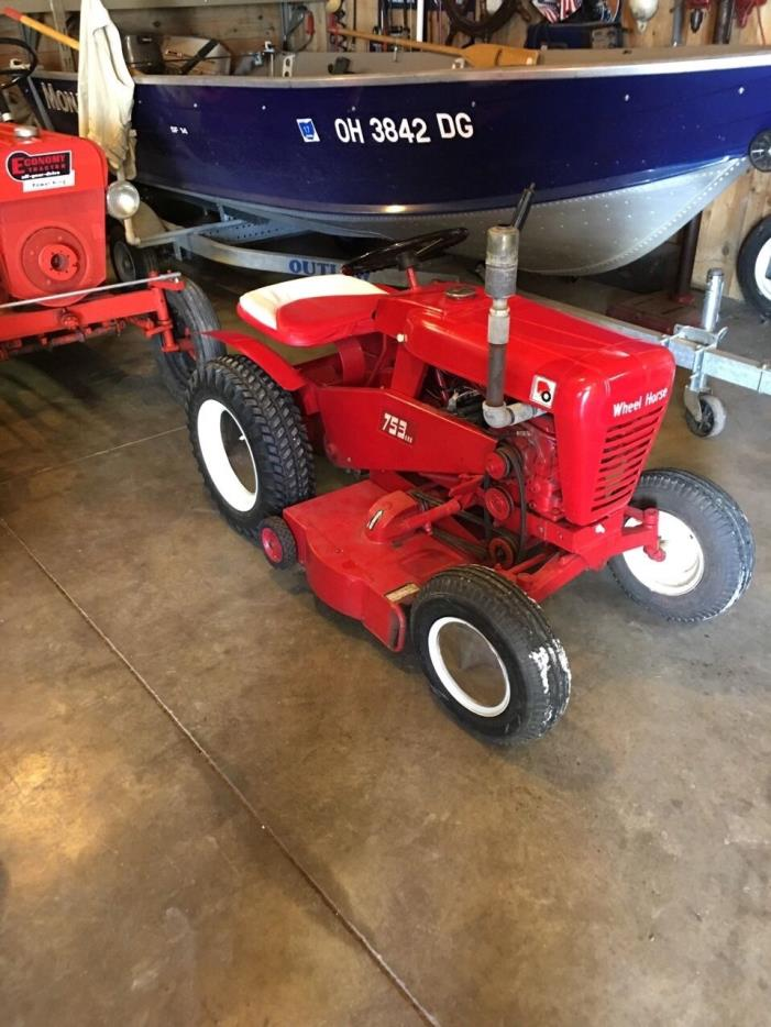 wheel horse 753 tractor. 25 year old restoration with deck