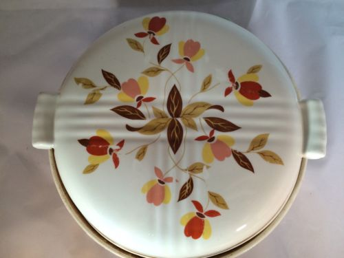 Vintage Hall Jewel Tea Autumn Leaf Covered Casserole Dish With Lid