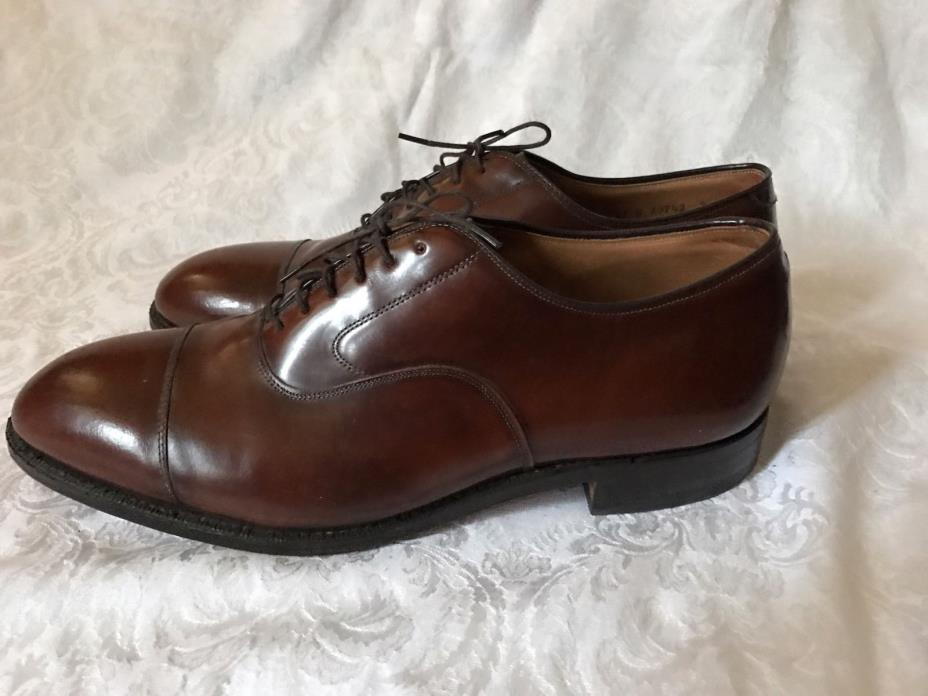 Johnston & Murphy Optima Leather Lace Up Cap Toe Oxford Shoes size 11.5 USA made