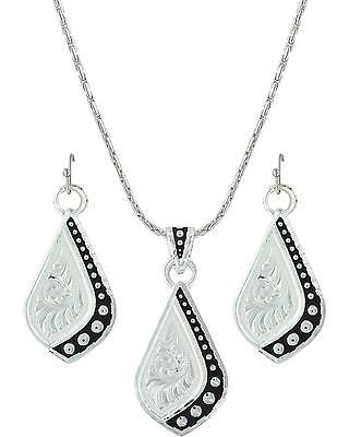 Montana Silversmiths Women's Silver The Path I Take Jewelry Set  Silver One Size