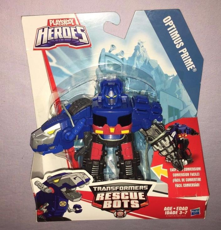 Transformers Rescue Bots OPTIMUS PRIME DINO PLAYSKOOL HEROES **NEW RELEASE**