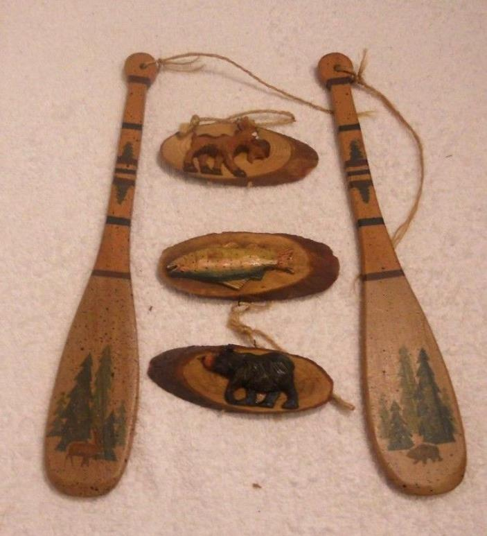 WOOD DECOR PRODUCTS, PADDLES & ANIMAL CARVINGS