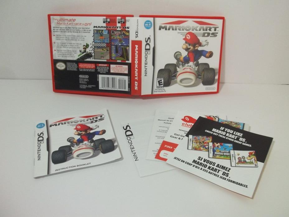 Mario Kart DS CASE & MANUAL ONLY!! (Nintendo DS) NO GAME!! Mario Kart Red Case