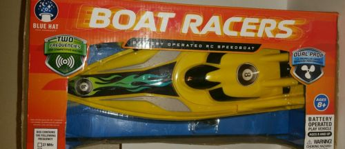 Boat Racers battery operated RC speedboat, Dual Propeller, Assorted Colors