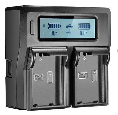LCD Dual Battery Charger EN-EL15 MH-25 D750 D7100 D810 D7200 AC/DC