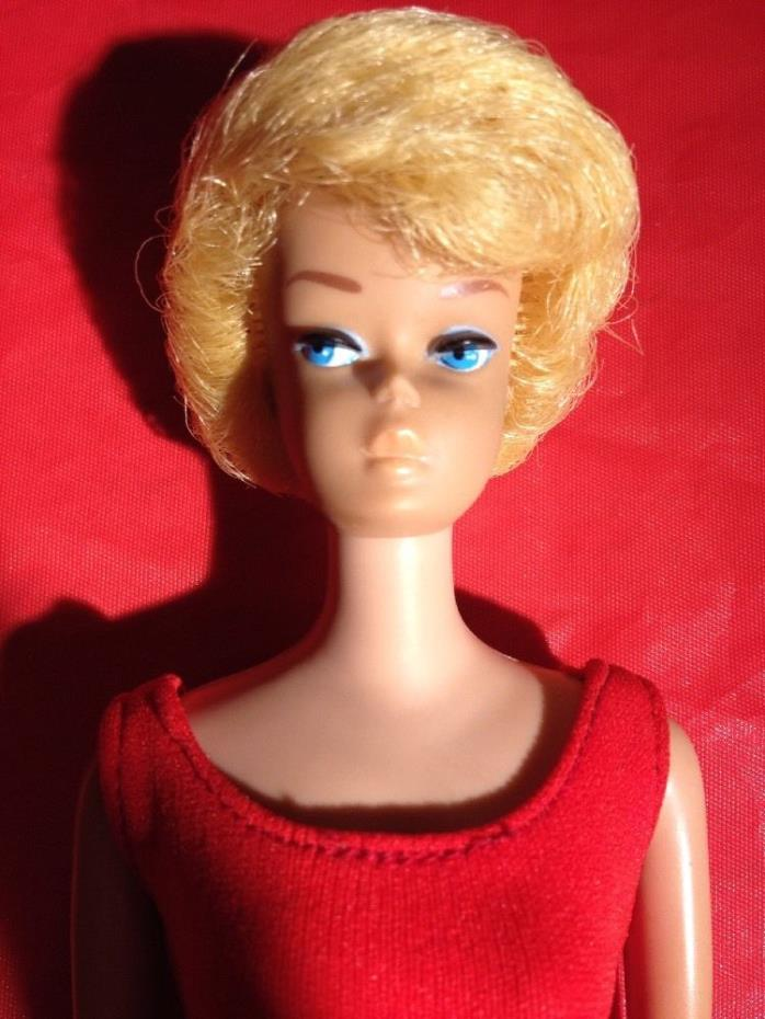 Vintage Blonde Bubble Cut bubblecut  Barbie In Original Box red suit and shoes