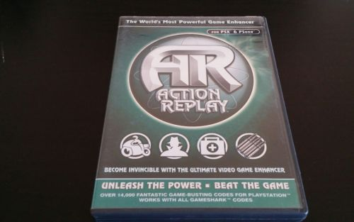 Playstation 1 PS1 PSX Action Replay, with case, manual, and disk
