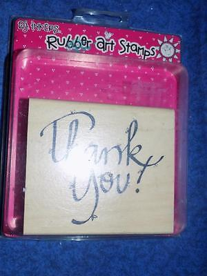 DJ Inkers Rubber Stamp 'THANK YOU'  NEW-big
