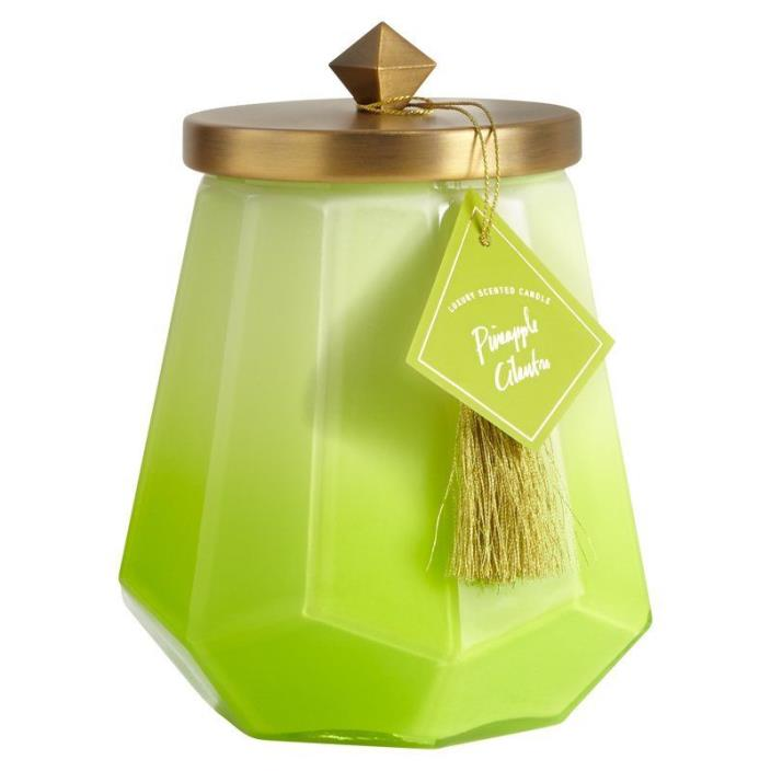 Illume Laurel Glass Candle - Pineapple Cilantro burns up to 120 hours