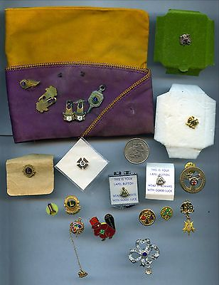 Vintage Lions Enamel Brooch Pin Hat Lot 2