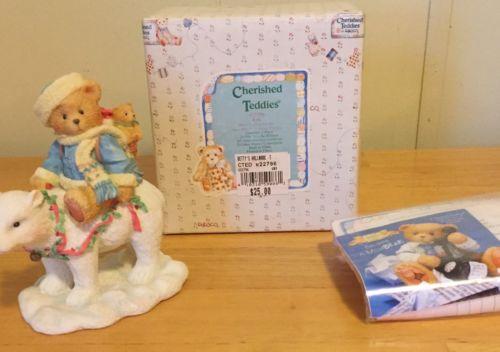 Cherished Teddies #622796 Eric Bear Tidings of Joy Christmas Figurine MIB 1994