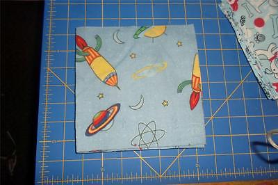 Cotton/Flannel Fabric 12 Squares- 6.5