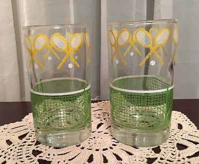 Pair of J Scott Tennis Tumblers by Libbey 5