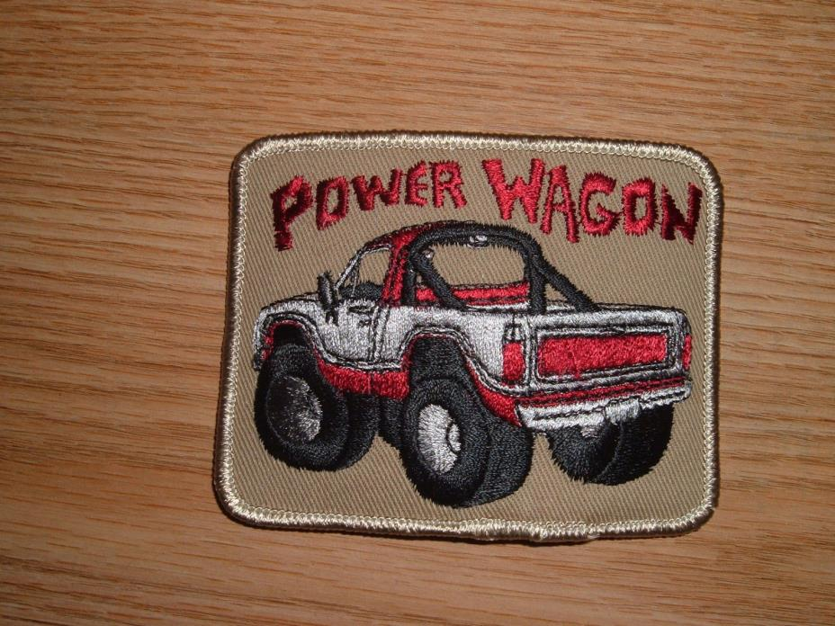VINTAGE DODGE POWER WAGON TRUCK EMBROIDERED PATCH
