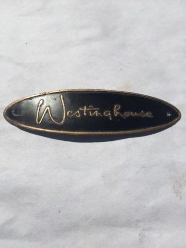 Westinghouse Refrigerator / Appliance Tag emblem Vintage