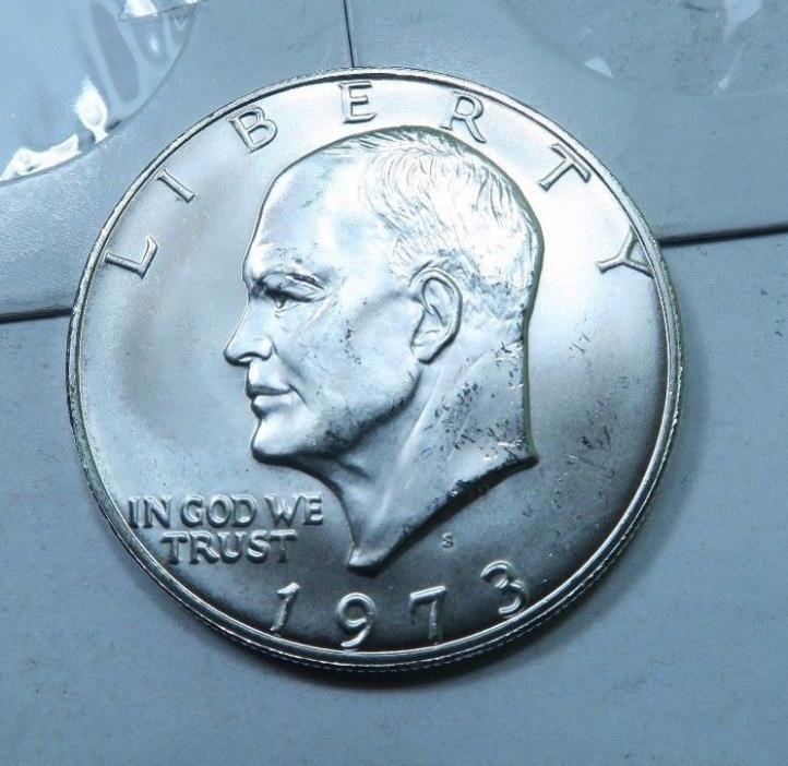 1973-S SILVER Eisenhower (Ike) Dollar // GEM BU+++ // (IE340)