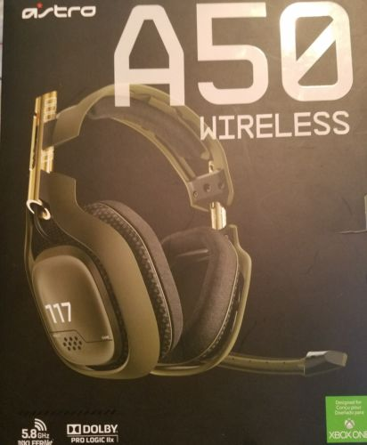 Halo 117 Edition Astro Gaming A50 Wireless Headset for Xbox One w/ Box